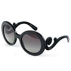 cd15bc69f9 Description  Prada Women s Round Sunglasses Product  65906 Women s  sunglasses Frame material  plastic Lens color  gray gradient Protection   UVA ...