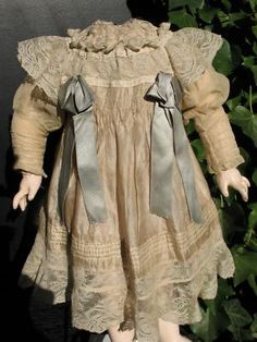 antique doll dress | Antique French/German Silk Doll Dress+Blouse,Jumeau,Antique Dolls ...