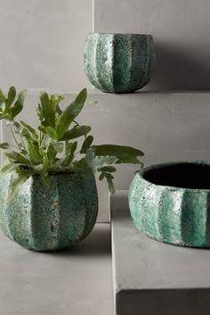 Anthropologie Celadon Garden Pot