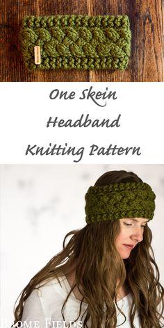 knit headband pattern One Skein Headband Knitting Pattern : Persistence by Brome Fields Knitted Headband Free Pattern, Crochet Shrug Pattern, Knit Or Crochet, Knitting Blogs, Knitting Patterns Free, Knitting Projects, Bandanas, Quick Knits, Knitted Hats
