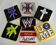 Awesome #WWE cookies! my boys would love these