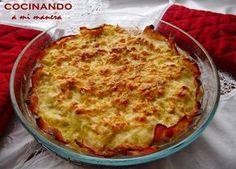 Pastel de pollo y calabacín | Salsa Verde, Spanish Food, Quiches, Kitchen Recipes, Cooking Recipes, Skinny Recipes, Healthy Recipes, Healthy Food, Tortillas