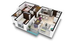Apartamentos Tipo C.  Estos son cómodos apartamentos de dos habitaciones, con un área de 58 m2 de construcción más parqueo.  Contáctenos al Tel:+506 2214 1111. Email:info@bambuecourbano.com. Web:http://bambuecourbano.com