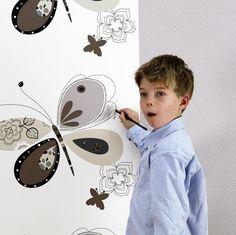 Kinderbehang Cozz Kids Vlinder - FotobehangFactory.nl