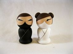 Kokeshi Wedding Ninjas Cake Topper
