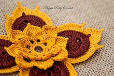 Ravelry: Prajamyam Lotus Flower pattern by Happy Patty Crochet