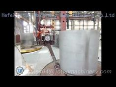 Inverted stainless steel tank surface polishing machine with small column