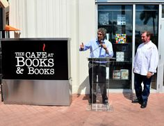 Mitchell Kaplan speaks at the Ribbon Cutting for The Café at Books & Books, Arsht Center #CafeBBArsht