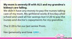 My mom is severely ill with ALS and my grandma's kidney's are failing.