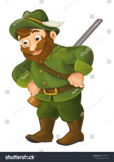 Find Cartoon Happy Hunter Illustration Children stock images in HD and millions of other royalty-free stock photos, illustrations and vectors in the Shutterstock collection. Thousands of new, high-quality pictures added every day. Kids Cartoon Characters, Cartoon Kids, Fictional Characters, Hunter Kids, Illustration Children, Red Riding Hood, Conte, Fairy Tales, Crafts For Kids