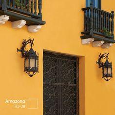 fachadas de casas colores calidos - Buscar con Google