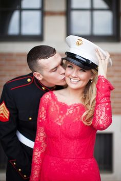 A Marine and His Girl   Love Letters From Home Engagement Session   Kelly Hornberger Photography   Heart Love Weddings
