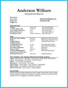 nice outstanding acting resume sample to get job soon - Sample Resume High School