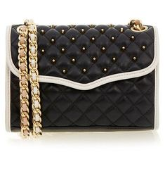 Studded Handbags, Studded Purse, Quilted Handbags, Mini Handbags, Black Handbags, Quilted Purse, Black And White Purses, Black White, Leather Purses