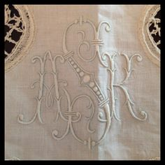 Antique French Monogrammed Linens from TopDrawerLinens (sold)
