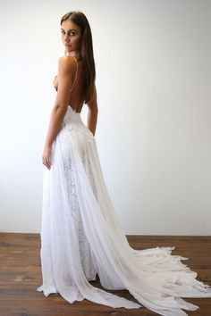 backless beach wedding gowns