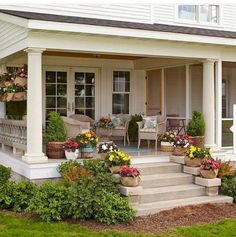 01 Awesome Farmhouse Front Porch Decor Ideas