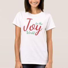 Joy to the World Christmas T-Shirt - christmas idea gift idea diy unique special merry xmas family holidays