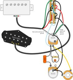 Getting Five Sounds from Two Humbuckers - Guitar Pickups, Bass Pickups, Pedals Guitar Shop, Music Guitar, Guitar Chords, Acoustic Guitar, Diy Guitar Pedal, Bass Guitars For Sale, Making Musical Instruments, Guitar Pickups, Cigar Box Guitar