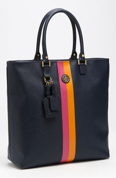 Tory Burch 'Roslyn Stripe' Square Tote | Looks so spacious!
