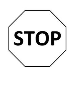 stop sign template | Applicants | Early Learning- Block ...