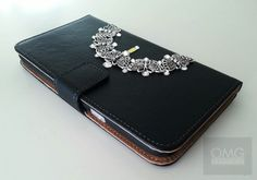 Real Leather Crystal Samsung Note 3 Note 2 Wallet Case with Swarovski Elements | eBay