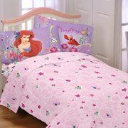 Disney Little Mermaid Full Sheet Set by The Little Mermaid. $54.99. ?Includes fitted sheet, flat sheet and pillowcase ?Polyester ?Machine washable