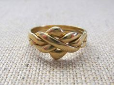 His/hers 18k Gold Puzzle Ring, fun to wear, fun to own. Yellow Gold EverythingIOwn http://etsy.me/ZSDfvz @Etsy