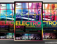 """Check out new work on my @Behance portfolio: """"Electro Flyer Template V5"""" http://be.net/gallery/34113236/Electro-Flyer-Template-V5"""