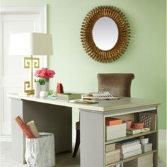 Love the fact that the desk is also a bookcase!