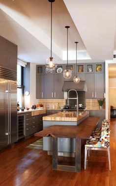 Kitchen With Grey Cabinets #decoratingkitchendecoration