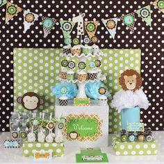 Jungle Safari Theme Baby Shower Birthday Mod Party Decorations Kit
