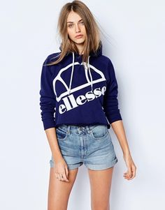 Buy Ellesse Cropped Pull Over Hoddie With Front Logo at ASOS. Get the latest trends with ASOS now. Ellesse, High End Clothing Brands, Tumblr Outfits, Mode Vintage, Fashion Outfits, Fashion Trends, Women's Fashion, Fashion Online, Sportswear