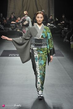 140319-7805 - Autumn/Winter 2014 Collection of Japanese fashion brand JOTARO SAITO on March 19, 2014, in Tokyo.