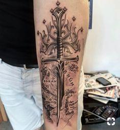 # # # # # - Land of Tattoos Tolkien Tattoo, Tatouage Tolkien, Hobbit Tattoo, Lotr Tattoo, Sword Tattoo, Gandalf Tattoo, Nerdy Tattoos, Ring Tattoos, Cute Tattoos