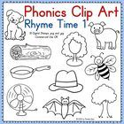 Here is a set of blackline clip art featuring rhyming words. This is perfect for creating worksheets and games. Kindergarten Literacy, Early Literacy, Literacy Activities, Teaching Reading, Teaching Kids, Learning, Rhyming Words, Rhyming Games, Alphabet Worksheets