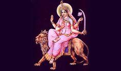 Navratri Day 6: Goddess Katyayani: Katyayani, the sixth form of Goddess Durga  is also known as a Warrior Goddess. It is said that she eventually led to slaying the demon, Mahishasura and then mounted the lion given to her by Goddess Gauri.