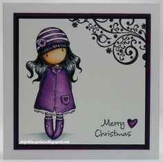 Delphine's place: An Angel and Gorjuss Girls. Cat Cards, Kids Cards, Mo Manning, Card Making Inspiration, Copics, Card Tags, Homemade Cards, Stampin Up Cards, Paper Dolls