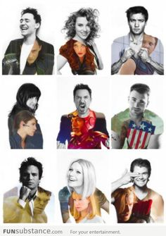 (tags: Avengers, actors, Loki, Tom Hiddleston, Black Widow, Scarlett Johansson, Hawkeye, Jeremy Renner, Maria, Cobie Smulders, Iron Man, Robert Downey Jr, Captain America, Chris Evans, Hulk, Mark Ruffalo, Pepper Potts, Gwenyth Paltrow, Thor, Chris Hemsworth)