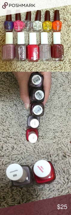 Essie Nail Polishes All never used or only used once colors are chinchilly, she's pampered, spearling darling, warm and toasty turtleneck, and sable collar essie Makeup