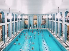 The Yrönkadun Uimahalli is the oldest public swimming pool in Finland. Helsinki, Pool City, Swimming Pool Architecture, Glass Office, Living In Europe, Swimming Pool Designs, Public Transport, Facade, Culture