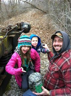 Our first Geocache find in Coopersville, MI #Family #Geocaching #Fun