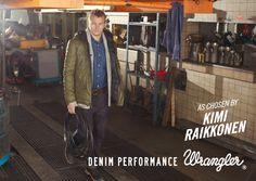 Kimi #Raikkonen #Wrangler #Jeans #Denim Performance #FW13