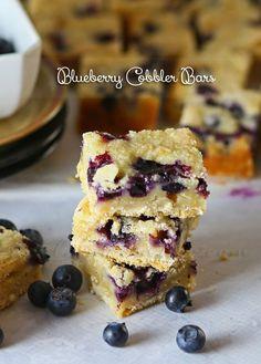 Blueberry Cobbler Bars