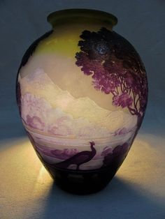 "A Gallé cameo glass ""Lake Como"" vase, circa 1900."