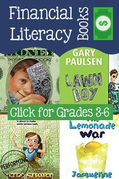 Financial Literacy Books for Grades 3-6