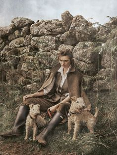 visual optimism; fashion editorials, shows, campaigns & more!: country girl: sophie vlaming by carl bengtsson for elle germany november 2014