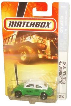 Mattel Matchbox 2007 MBX City Action 1:64 Scale Die Cast Metal Car # 56 - Green VW Volkswagen Beetle Taxi with White Top by MBX. $9.99. Realistic Details. Age : 3+. Diecast Metal & Plastic Parts. 1/64 Scale. Mattel Matchbox 2007 MBX City Action 1:64 Scale Die Cast Metal Car # 56 - Green VW Volkswagen Beetle Taxi with White Top