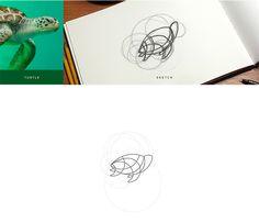 Criando logos de animais a partir de fotos, grids circulares e paletas de cores - Confira o belo processo de criação da designer Anuja Kanani e seus logos de animais.
