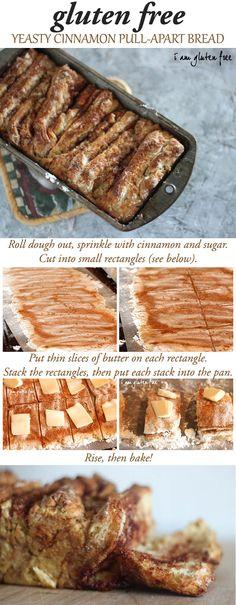 Gluten free yeasty cinnamon pull-apart bread